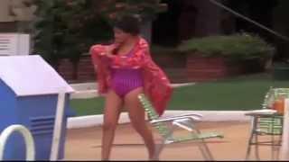 madhuri dixit in pink swimsuit   mujrum 1989