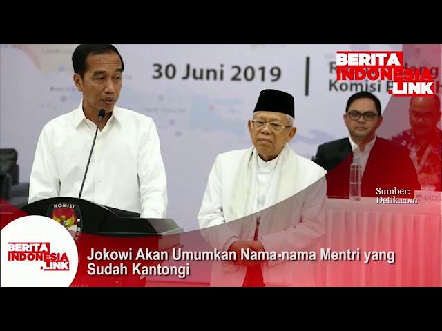 Jokowi akan umumkan nama-nama Menteri yang sudah dikantongi.