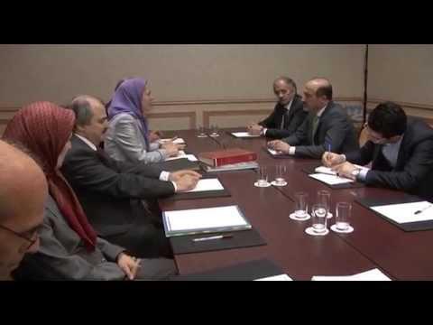 Meeting of Mrs  rajavi and Ahmad Jarba, May 23, 2014