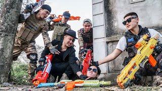 LTT Game Nerf War : Patrol Police Warriors SEAL X Nerf Guns Fight Crime group Braum Crazy