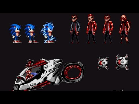 Sonic The Hedgehog Movie Sonic Dr Eggman Sprites Image Youtube
