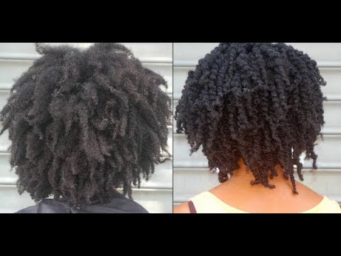 Twist out with 4C Hair