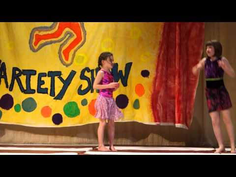 Catherine and Izzy at Inly School Variety Show 2014