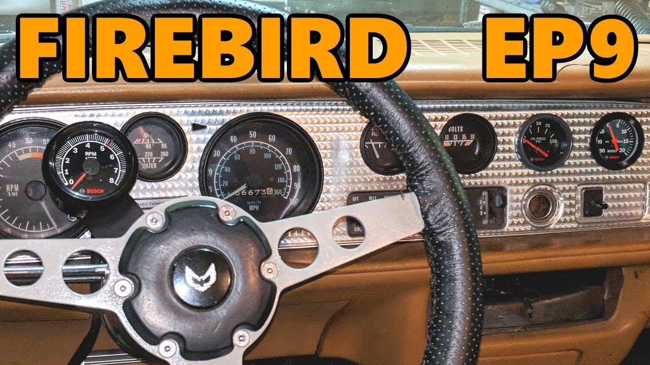 small resolution of 1978 firebird aftermarket gauges oil boost tach install ep 9
