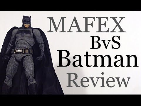 MAFEX Medicom Batman V Superman Dawn of Justice BATMAN Action Figure Review Toy Review