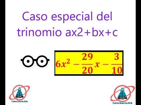 Caso Especial Del Trinomio De La Forma Ax2+bx+c #3