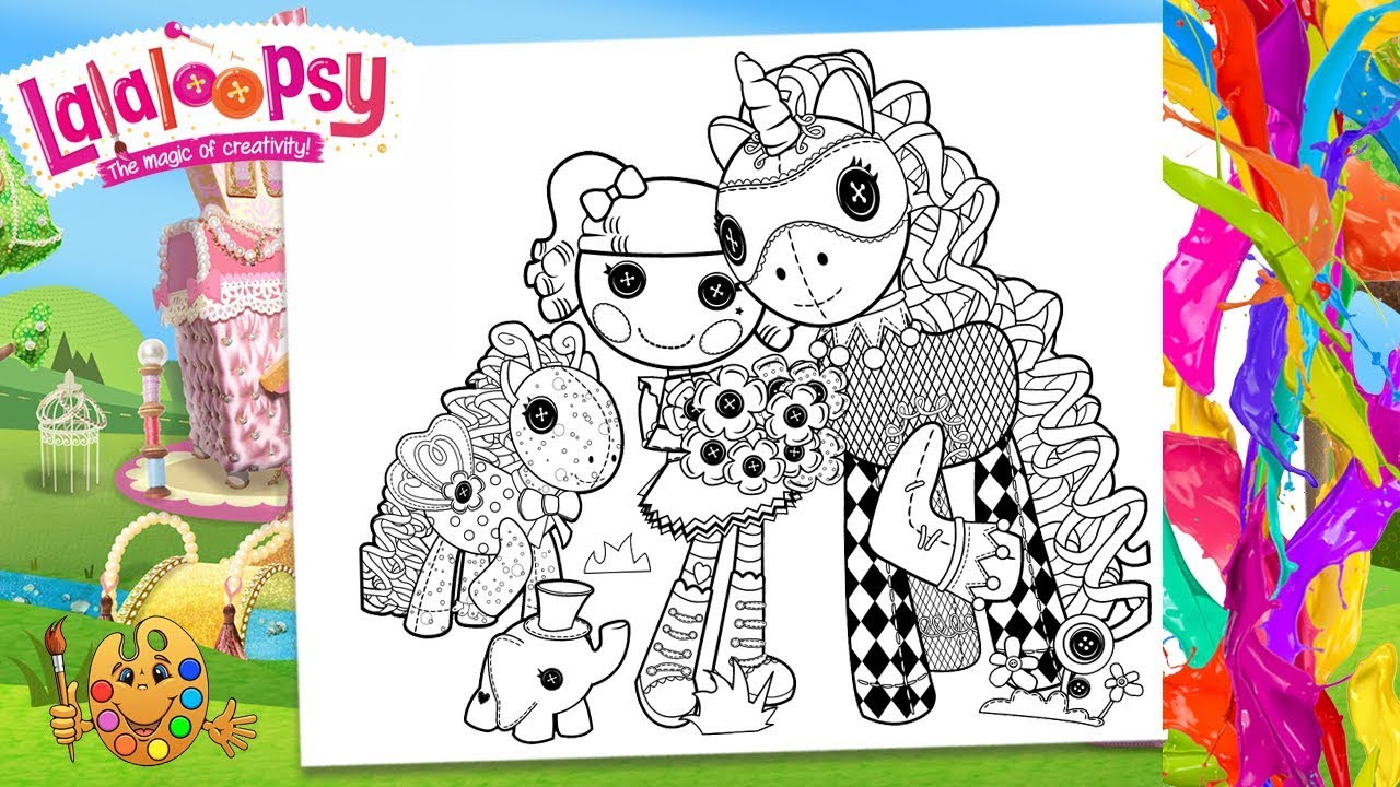 Lalaloopsy : Peanut Big Top, Elephant and pony Checkers   Coloring pages  for kids   Coloring book   - YouTube
