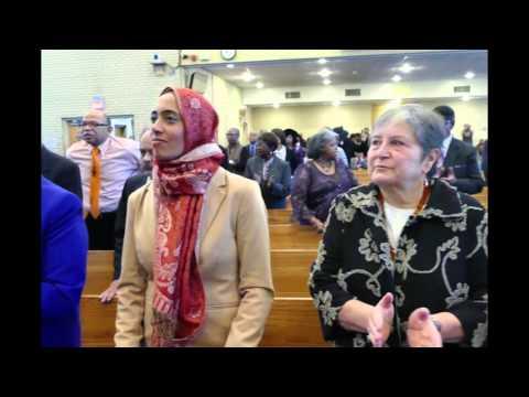 Muslim community members attend Shiloh Baptist Church worship services