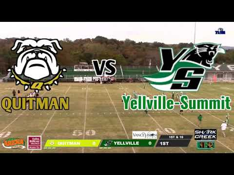 Quitman vs Yellville Summit High School Football 10.9.20