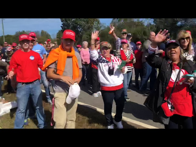 LONG Lines to See President Trump in Macon, GA! 11-4-18