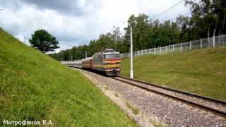 Электровоз ЧС4Т-373 (ТЧЭ-41) с поездом
