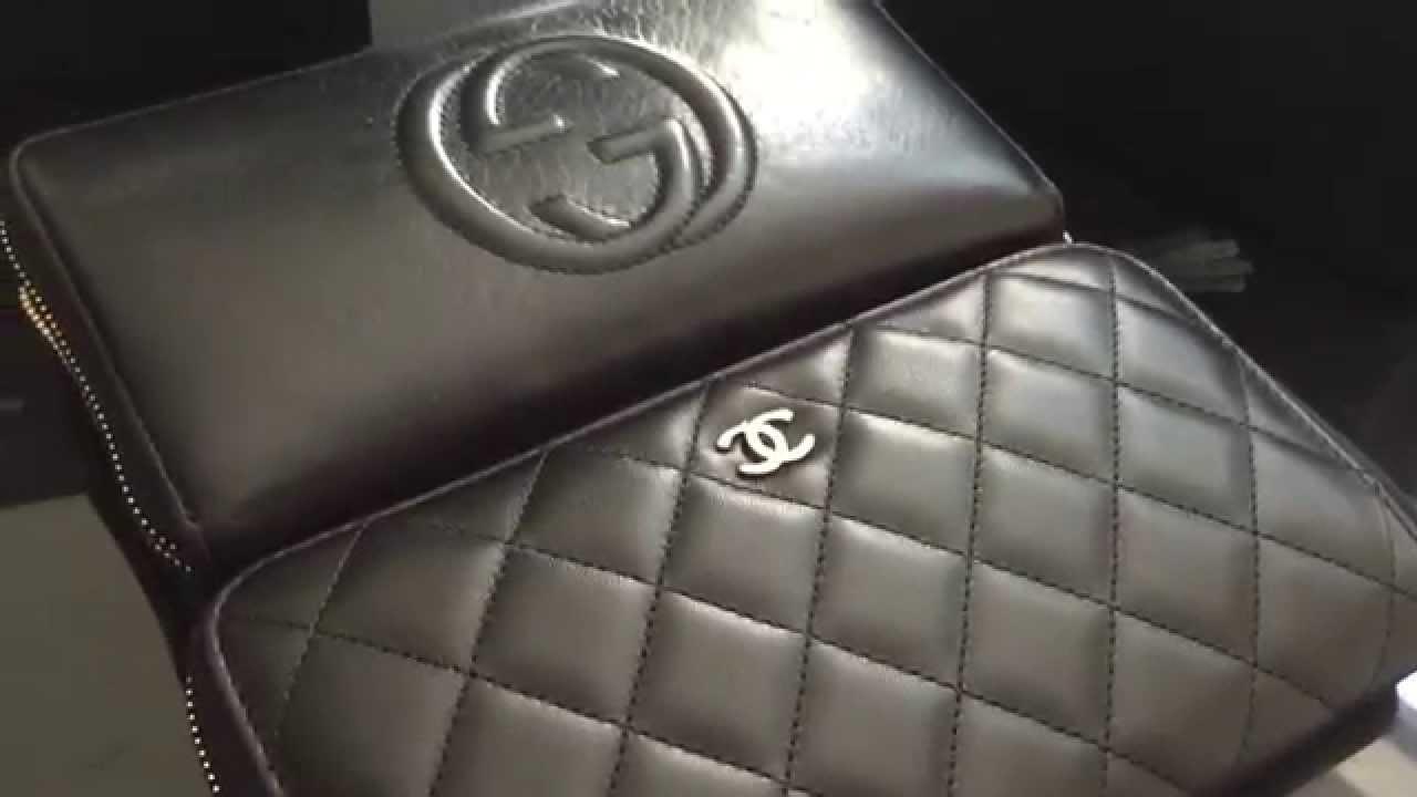 f872367b0c9e Chanel black Lambskin quilted zip wallet July 2015 - YouTube