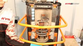 OPEL Corsa B, Tigra, Combo - FRONT - Передние амортизаторы KYB установка