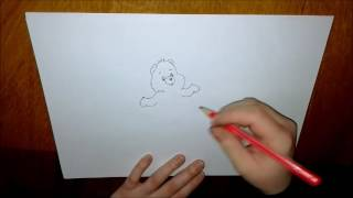 How to draw Good Luck Bear from Care Bears