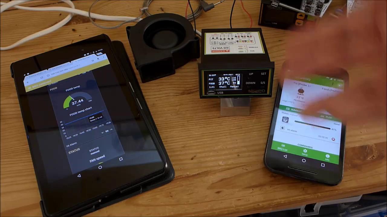SmartPID web app vs native app remote control via MQTT