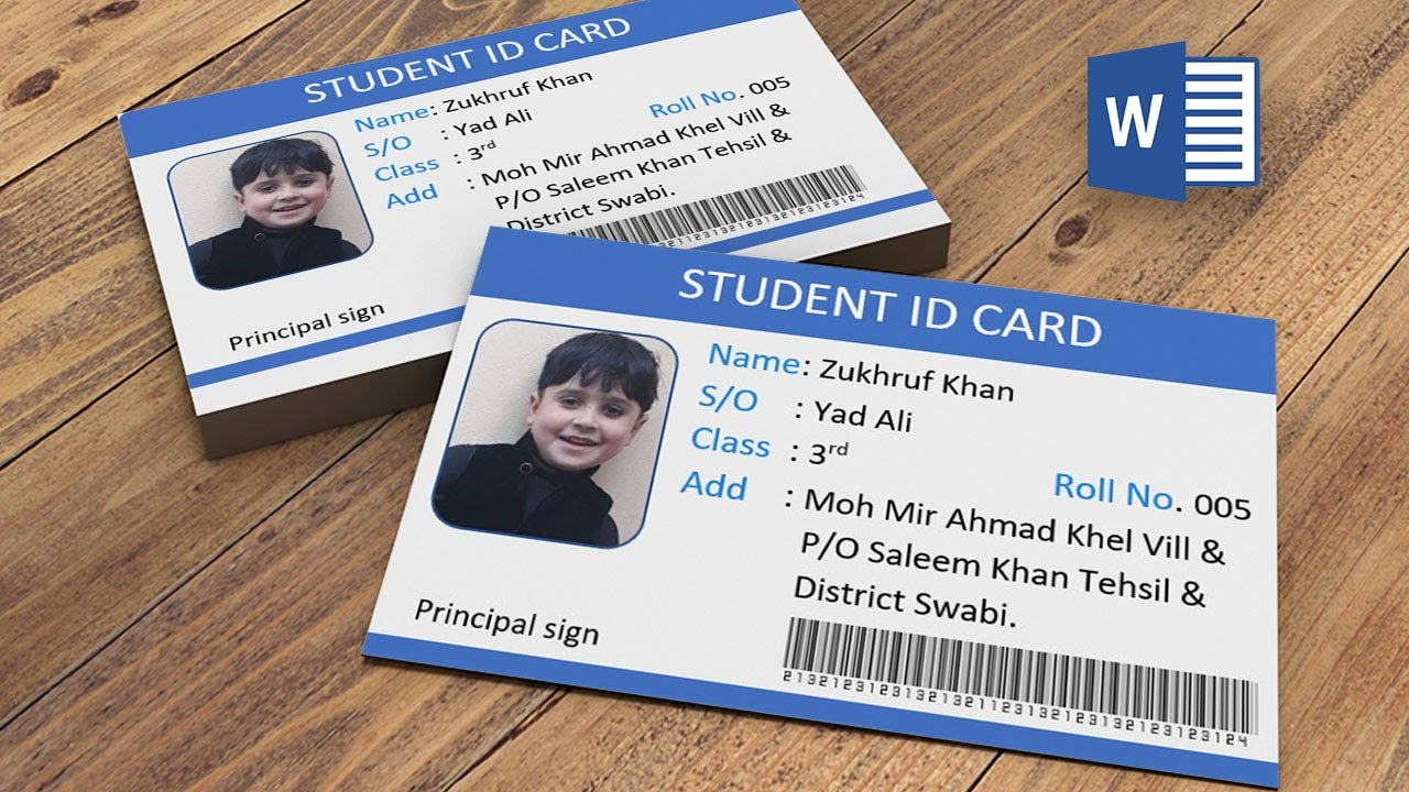 Student Id Template Word from i.ytimg.com