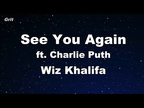 See You Again ft. Charlie Puth - Wiz Khalifa  Karaoke 【With Guide Melody】 Instrumental