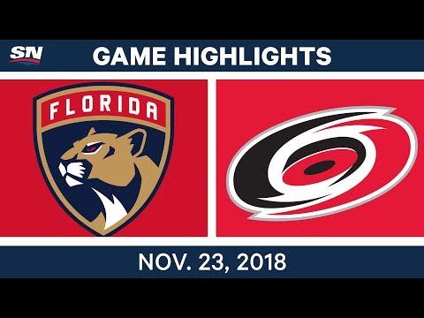 NHL Highlights | Panthers vs. Hurricanes – Nov. 23, 2018
