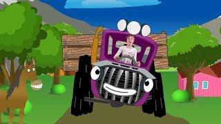 Весела дитяча пісенька. Трактор їде до нас. Вчимо назви тварин з Веронікою!