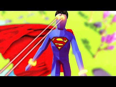 Totally Accurate Battle Simulator - SUPERMAN BATTLES HILARY & TRUMP ( TABS Super Peasant Gameplay )
