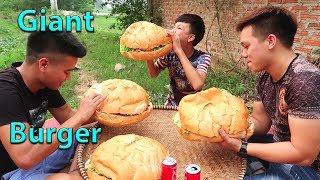 Hữu Bộ | Làm Bánh Hamburger Khổng Lồ | Giant Burger