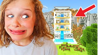 BEST MOUNTAIN HOUSE in Minecraft Wins Mystery Box w/ The Norris Nuts