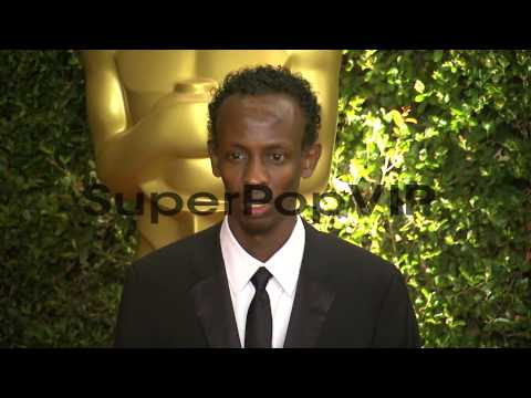Barkhad Abdi at Academy Of Motion Picture Arts And Scienc...