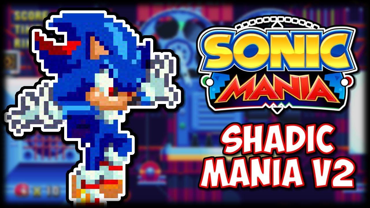 Shadic Mania V2 Sprite Mod Sonic Mania Mod Showcase Youtube