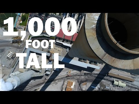 KEN HERON - Drone a 1,000 foot STACK and the DJI Phantom 4 Advanced [4K]