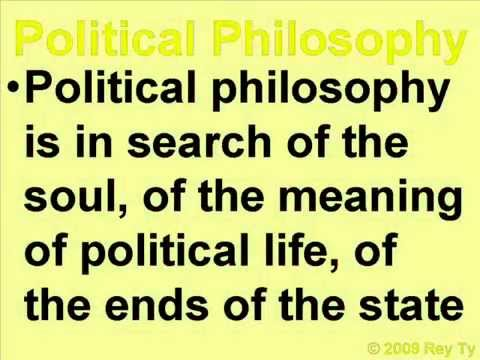 Political Philosophy vs. Political Science -- Rey Ty