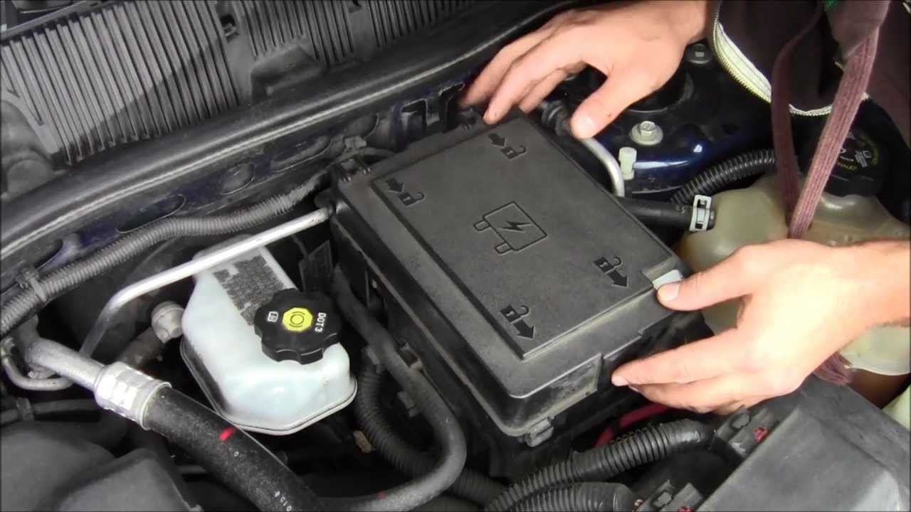maxresdefault how to access fuse box on 2008 chevy equinox youtube on 2008 equinox what holds under hood fuse box in place