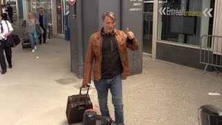 EXCLUSIVE : Mads Mikkelsen arriving at Nice airport for Cannes Film Festival