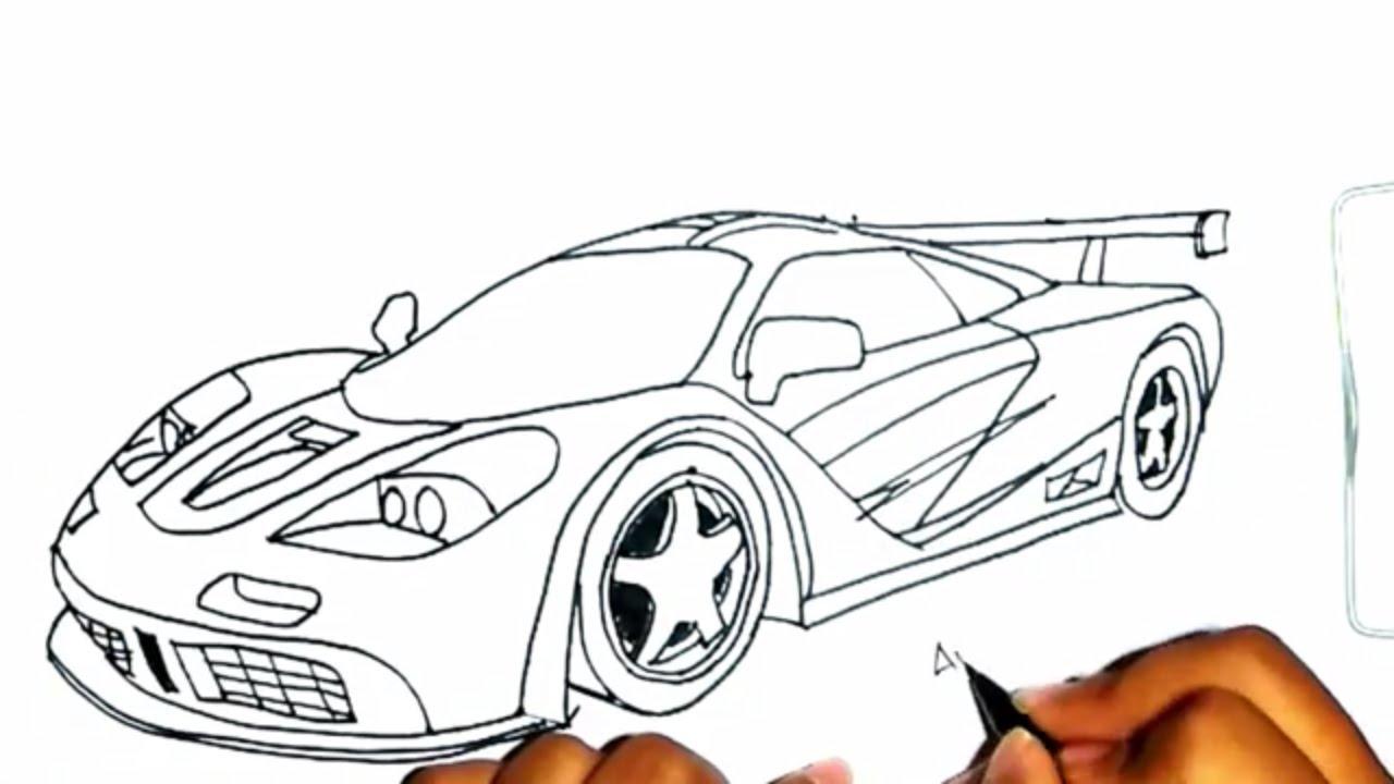 Coretan Kertas Menggambar Mobil Sport Ferrari Youtube