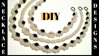 diy necklace. Beaded necklace tutorial. How to make necklace