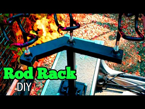 Boat Rod Rack DIY