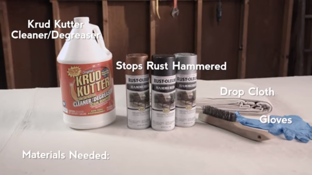 How To Paint Over Rust With Rust Oleum Hammered Spray