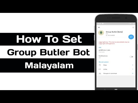 Telegram Group Butler Bot Malayalam | How To Use? ടെലിഗ്രാം