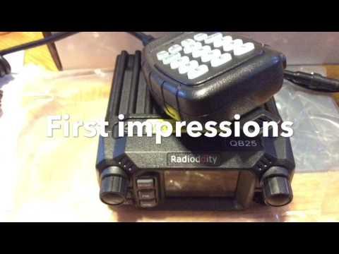 Radioddity QB25 mobile radio