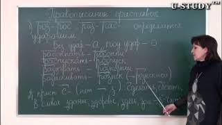 Подготовка к ЕНТ: Русский язык (Правописание приставок - урок 1)