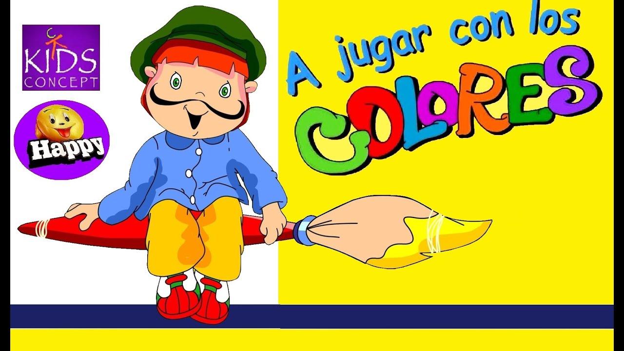 A jugar con los colores con letra youtube for Aprendemos jugando jardin infantil