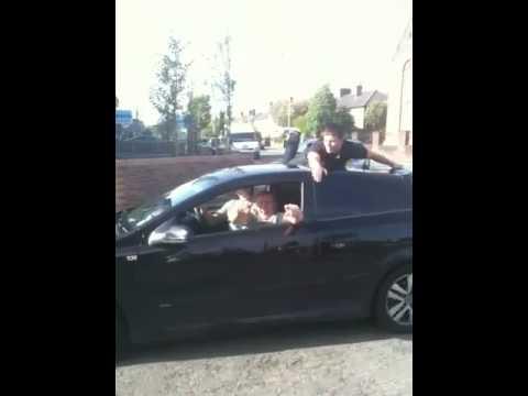 Jordan on mannings car haha