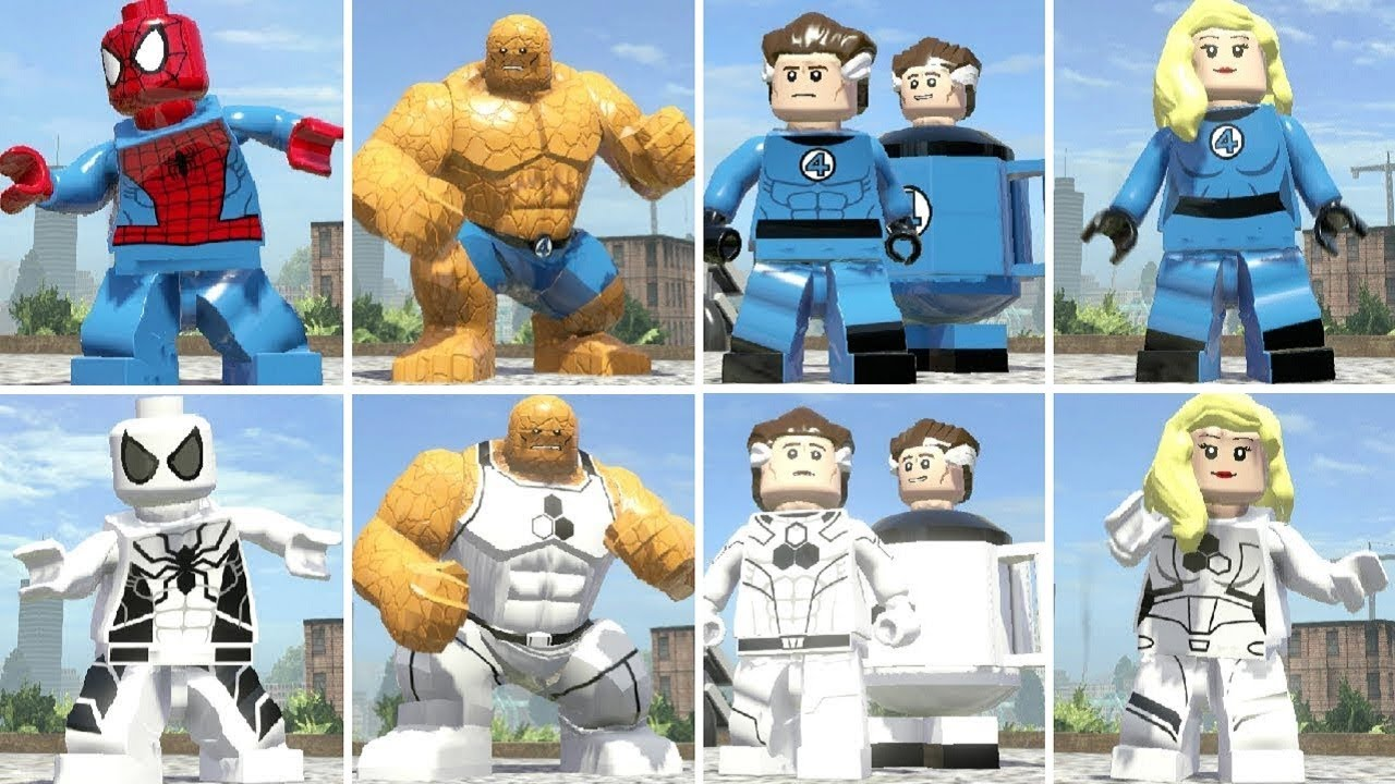 All Future Foundation Suits Vs. Main Suits in LEGO Marvel ...