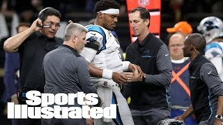 Cam Newton Takes A Hard Hit: Is NFL Concussion Protocol A Joke? | SI NOW | Sports Illustrated