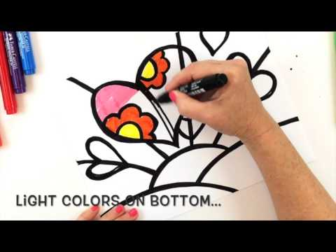 How to Draw a Britto-Inspired Heart Art Lesson for Kids