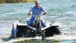 Плавающий вездеход - квадроцикл из Урала. Перевозка и первые испытания