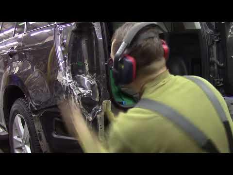 Ремонт сложного крыла на Сузуки Витара. Body repair after an accident.