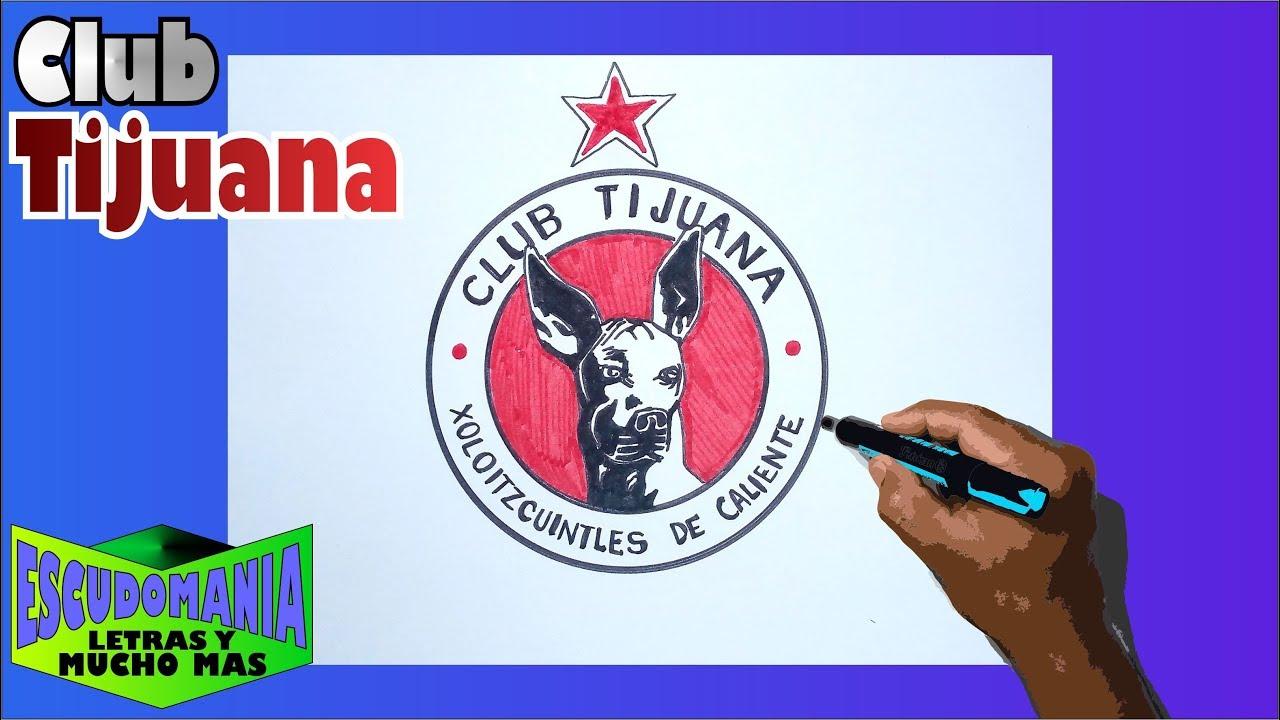 Cómo Dibujar Y Pintar El Escudo Del Club Tijuana