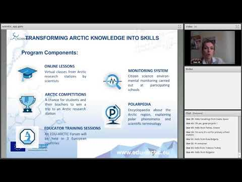 Scientix webinar : How to become a part of citizen science  EDU ARCTIC Monitoring system