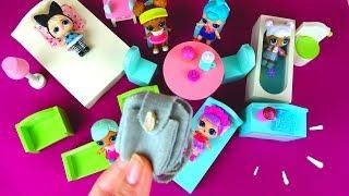 МИНИ МЕБЕЛЬ и САМОДЕЛЬНЫЙ РЮКЗАК  для КУКОЛ ЛОЛ Сюрприз в Шаре  / Mini Furniture for LOL Dolls
