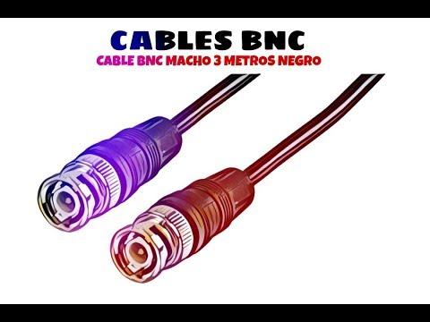 Video de Cable BNC macho RG 59 3 M Negro